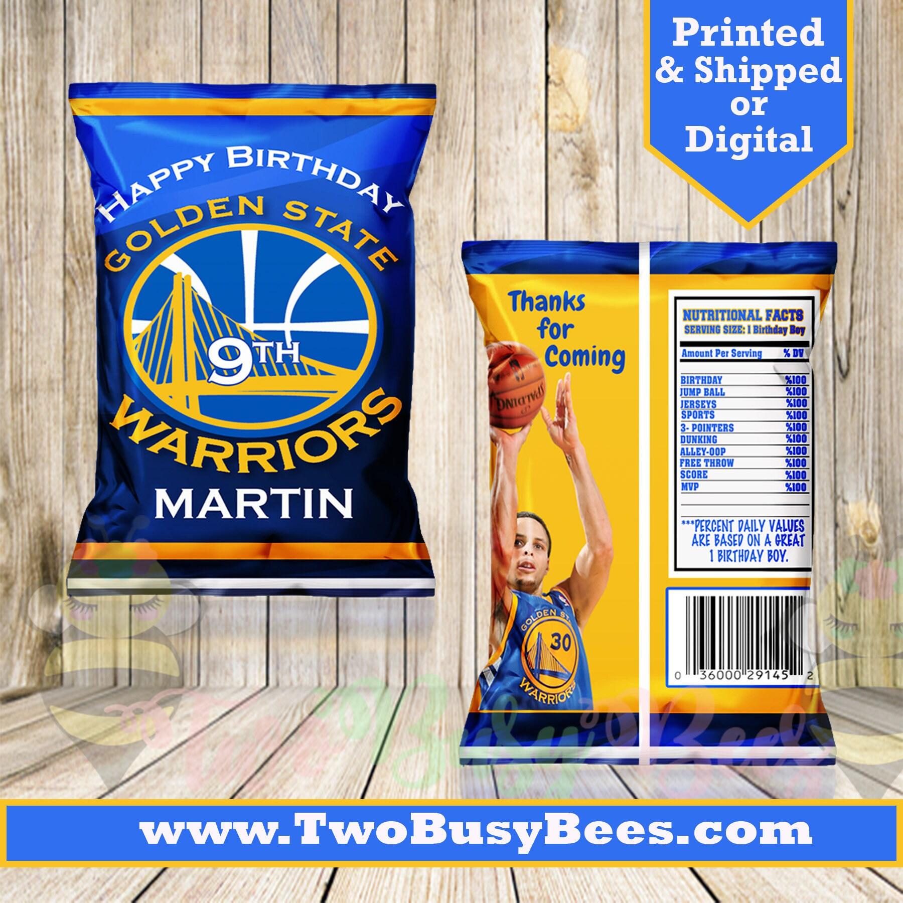 Golden State Warriors Favor Bags Custom Chip Bags Warriors