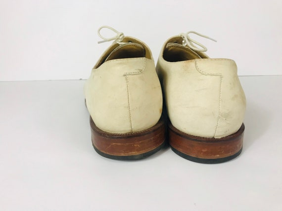 Mens 10 Used White Bucks Suede Rockabilly Shoes - image 8