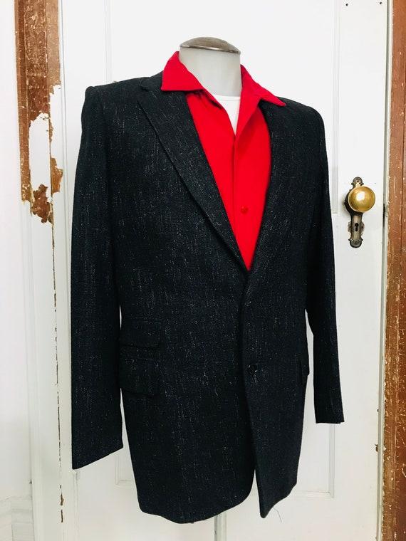 Vintage Medium Rockabilly Black Fleck Jacket