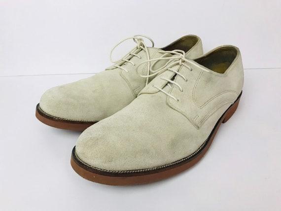 White Bucks Suede Rockabilly Shoes Bostonian Mens