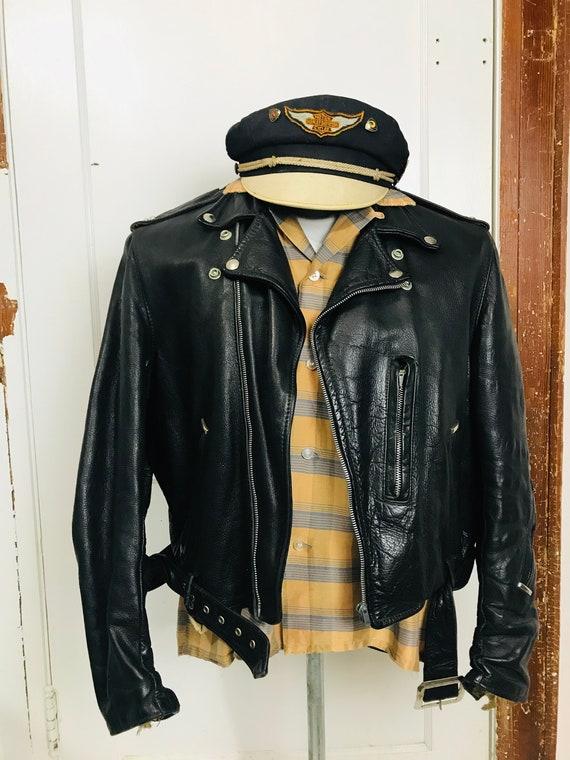 Vintage 1950's Motorcycle Jacket Rockabilly