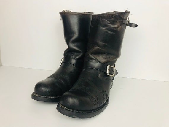 Size 9 Brown Frye Engineer Boots Well Worn!