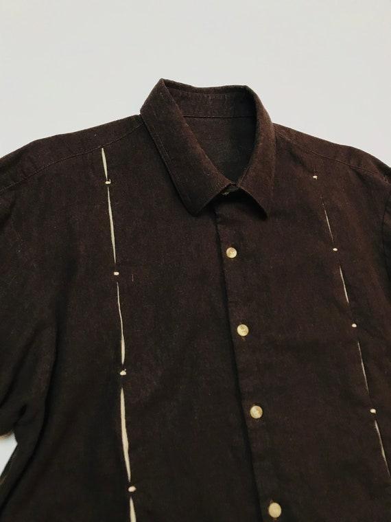 Medium Vintage Camp / Cabana Shirt ROCKABILLY