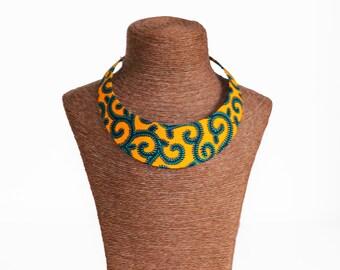 """Necklace """"Bantu"""" yellow Wax"""