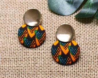 Wax fabric Beautiful Escape earrings