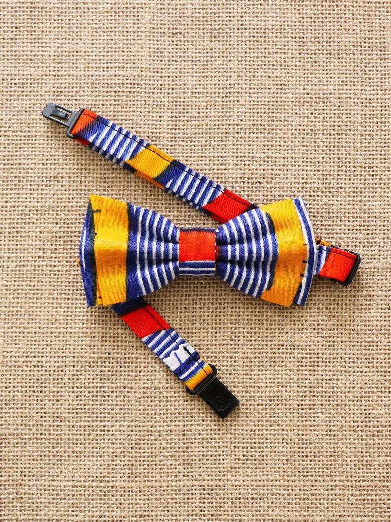 Children/'s knot Wax waves OJ wedding African knot Mwana butterfly knot African print best man Wax bow tie
