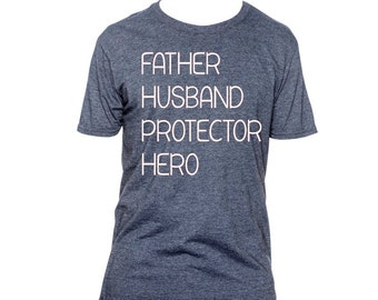 ea9d5910 Fathers Day Gift Shirt Husband Daddy Protector Hero Father's Day Gifts for  Husband, New Father Shirt, New Dad Shirt , Gift for him