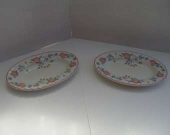 Churchill Briar Rose Under Plates - Set of 2