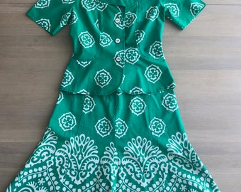 e389b8519aec MERRY FINN 70s Vintage Skirt and shirt set