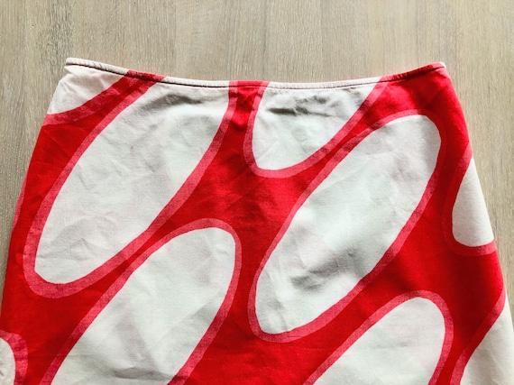MARIMEKKO Vintage Skirt, Oval print skirt, Marime… - image 9