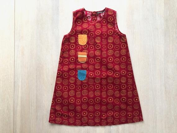 MARIMEKKO Iloinen Takki A-Line Dress, Girl's Red P