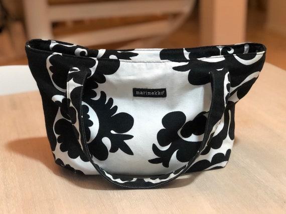 Black and White MARIMEKKO Samovaari Shoulder Bag,