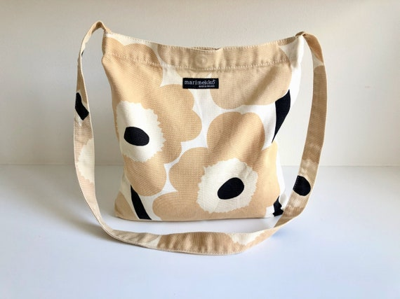 Beige MARIMEKKO Unikko Vintage Canvas Shoulder Bag