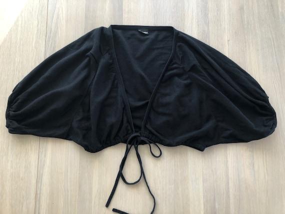 Marimekko Vintage Cotton Cardigan, Black Bolero Ca