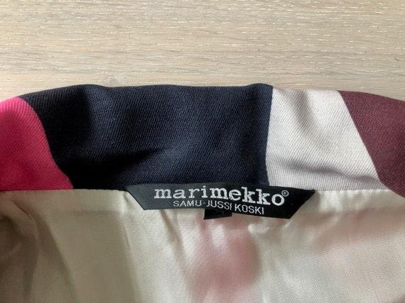 MARIMEKKO Vintage Blazer, Pink and black Cropped … - image 7