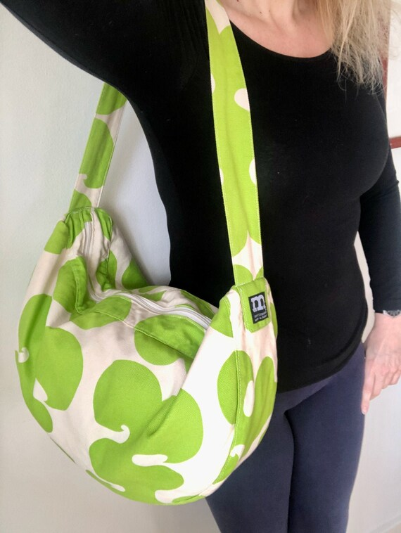 Green MARIMEKKO Jokeri Canvas Shoulder Bag, Large