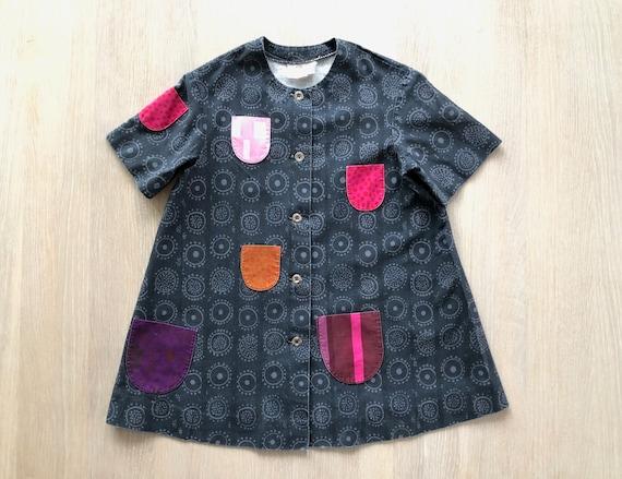Girls MARIMEKKO Shirt Dress, Iloinen Takki Grey Po