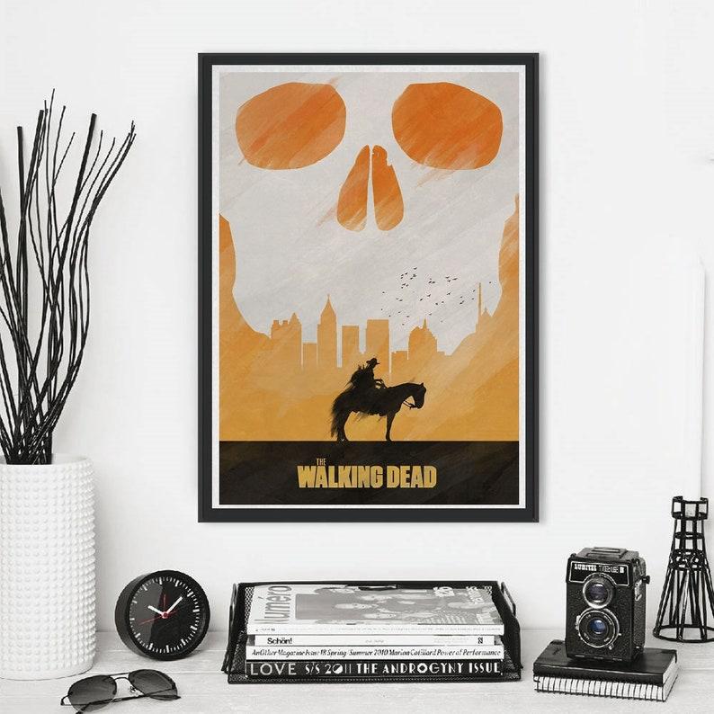 THE WALKING DEAD Alternative Minimal Television Poster