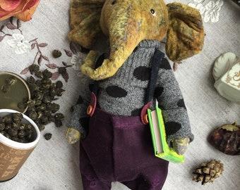 Teddy Elephant Green Tea Stuffed Animal