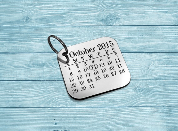 Save The Date, Custom Keychain, Engraved Keychain, Personalized Keychain,  Gift For Her, Gift For Him, Wedding Gift, Anniversary Keychain