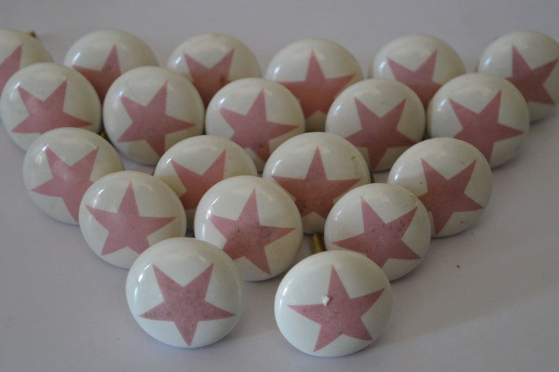 Knobs /& Pulls Pull knobs Kitchen Knobs Ceramic Cabinet Handmade Hand painted Decorative Drawer 20 PC