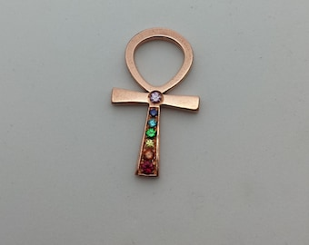 Ankh ' ' Rainbow ' ', 28 mm, pure red copper