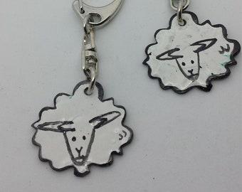 Texelse Sheep Keychain Black