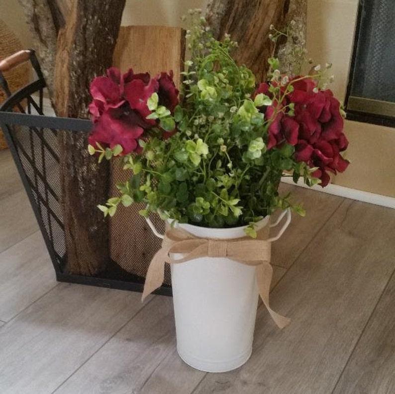 Floral ArrangementFloral CenterpieceEucalyptus CenterpieceRustic CenterpieceRustic Home DecorHome DecorHydrangea Decor