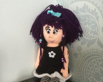 Alternative goth handmade doll