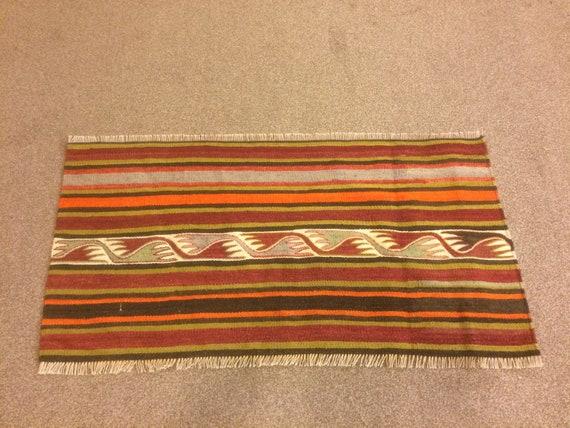 1 8x3 2 Feet Ethnic Handicraft Brown Green Orange Black Etsy