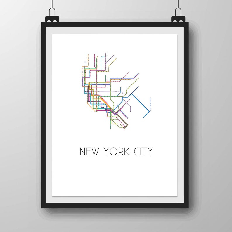 photo regarding Subways Application Printable called Contemporary York Subway Printable Map Artwork, Metro Artwork Poster, Art Place of work Printable Electronic History