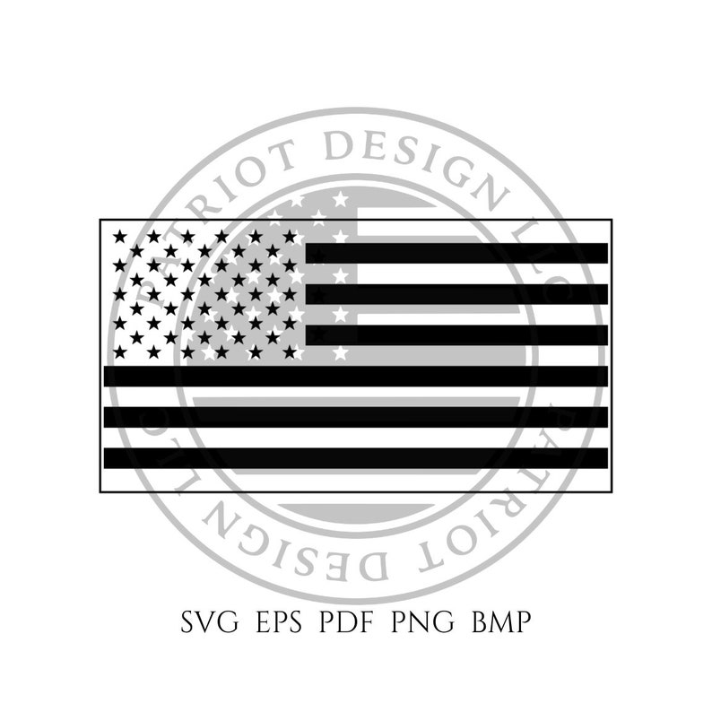 Inverse American Flag American Flag Vector Cnc Flag Etsy