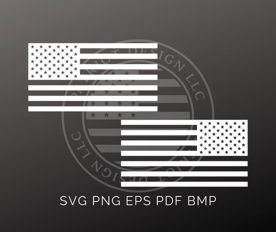 White American Flag White Flag Vector Rear Facing Flag Etsy