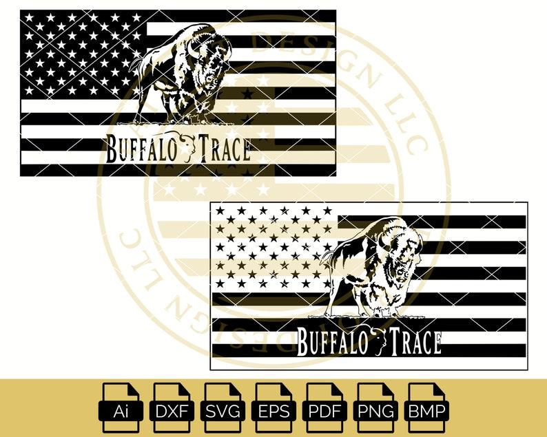 Buffalo Trace American Flag Buffalo Trace Distillery | Etsy