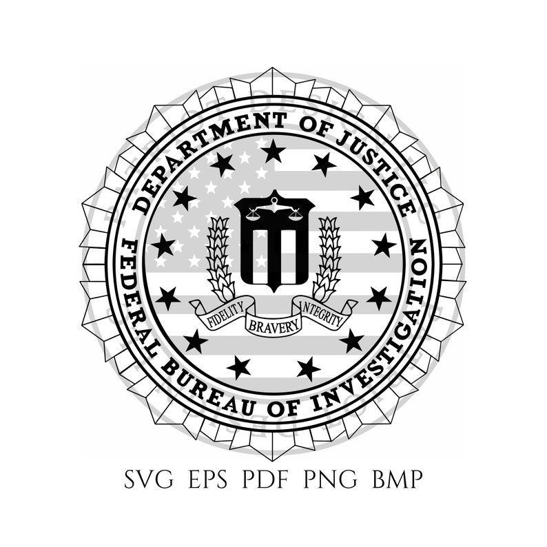 Federal Bureau of Investigation Seal FBI Seal FBI Logo   Etsy