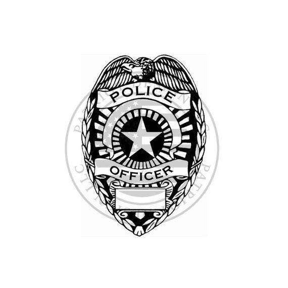 Repulsione sedersi omosessuale  Police Badge Police Police Badge Vector Blue Line | Etsy