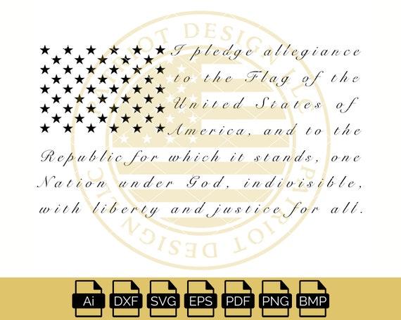 Pledge Of Allegiance Pledge Of Allegiance Vector American Etsy