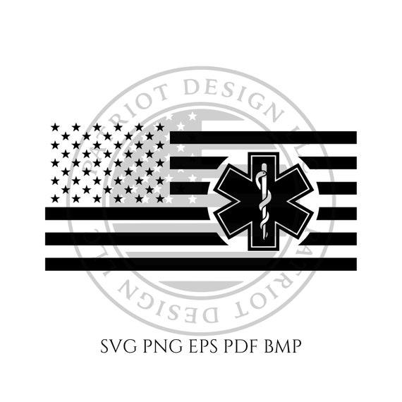 Ems American Flag File Ems Cnc Flag Vector File Vector Etsy