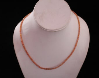 Natural Faceted Songea Sapphire Necklace 17 inch Length 2 to 3 MM