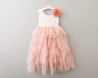 Sleeveless Bohemian Spirit Dress - Peach