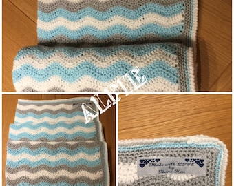 Crochet Baby Ripple Blanket