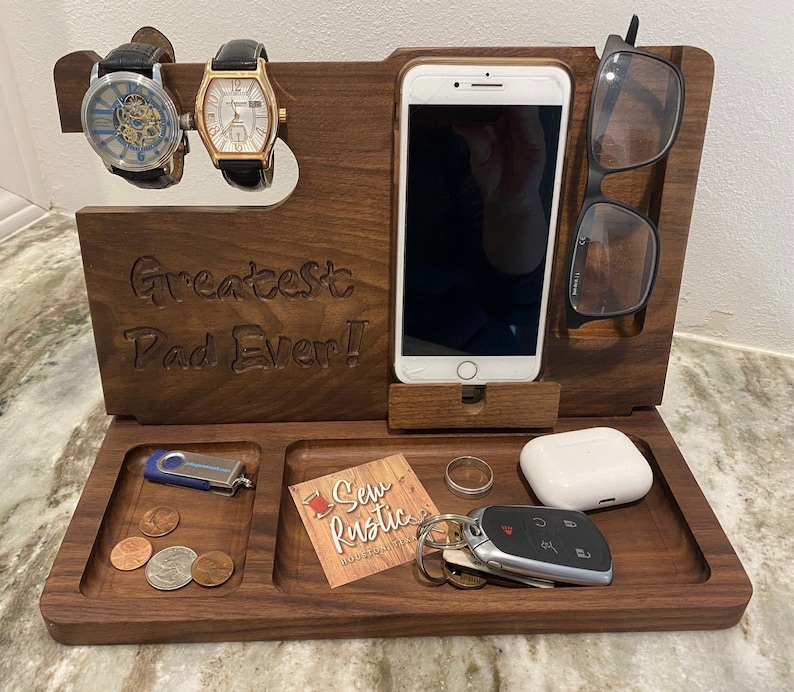 Personalized Valet Docking Station/Charging Stand/Tray image 0