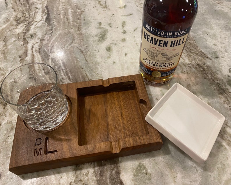 Personalized Scotch/Bourbon/Whiskey and Cigar Gift Set image 0