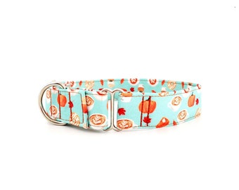 """Martingale Dog Collar Pumpkin Spice Latte PSL, Donuts, Pumpkins and Pies Fall Food Print Size XS-XL Adjustable 1"""", 1.5 inch or 2 inch width"""