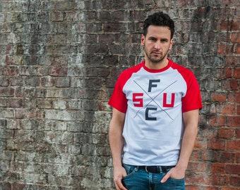 SUFC Baseball style Cross T Shirt