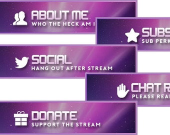 Twitch panel | Etsy