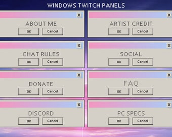 Twitch panels | Etsy