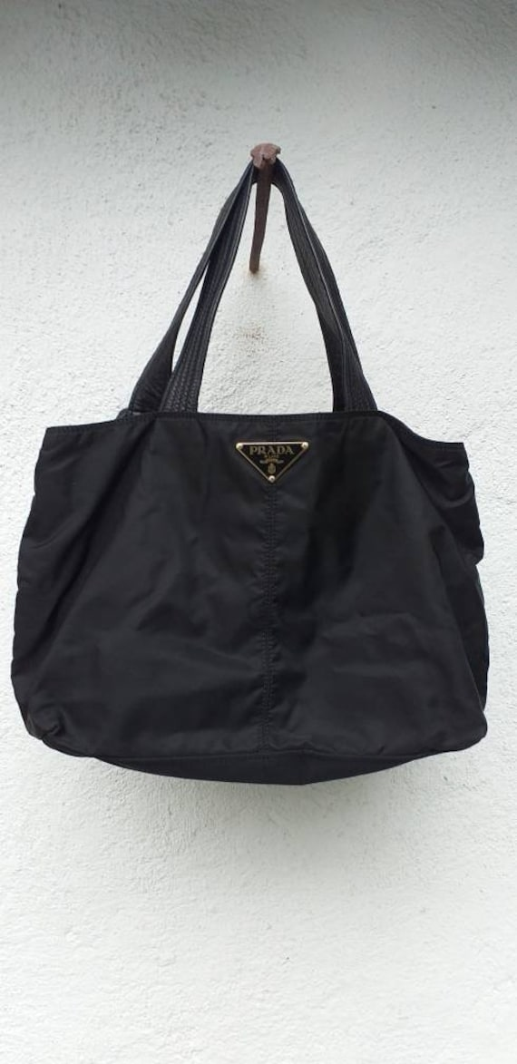 Prada bag in fabric and leather