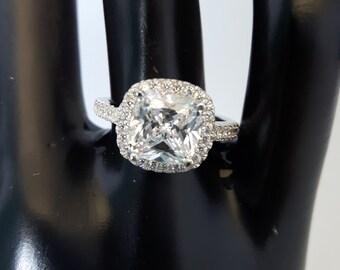 423a4423704cd 3 carat cz ring   Etsy