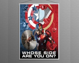 Captain America Civil War Iron Man vs Captain America Artwork Alternative Cover Movie  Home  Decor Poster  The Avengers art